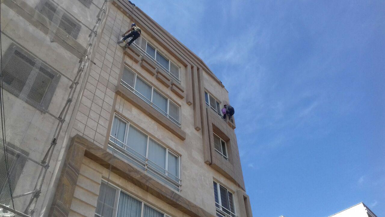 شستشوی نمای ساختمان با تیم ارتفاع کاران بهمنی